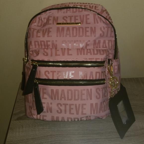 3bfdef41a42 NWT Steve Madden Blush BMIDI Prep Backpack bookbag NWT